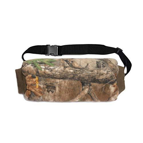 HOT SHOT Men's Camo Razorback Reversible Fleece Hand Muff – Realtree Edge/Blaze Orange Outdoor Hunting