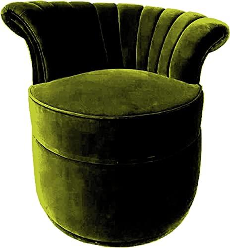 Casa Padrino Sillón Art Deco de Lujo Derecha Sillón de Sala de Estar - Muebles de Sala de Estar Art Deco, Color:Verde