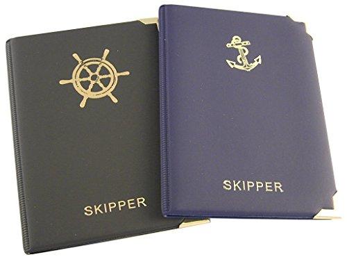 Skippermappe Motiv Steuerrad schwarz