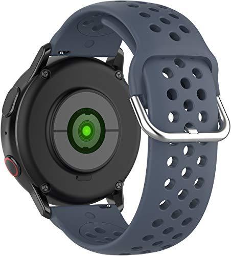 BarRan Compatível com vivoactive4 pulseira de relógio,amazfit GTR 47mm, 22mm Soft Silicone pulseira de relógio para Gear S3 Frontier/S3, HUAWEI MagicWatch 2 46MM,HUAWEI GT, GT2
