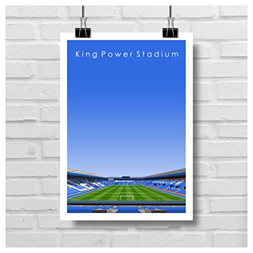 Home.Ground.Prints Wall Art Graphic Design English Premier League Football Stadium Gift Print Collection - Leicester City FC'King Power Stadium' LCFC