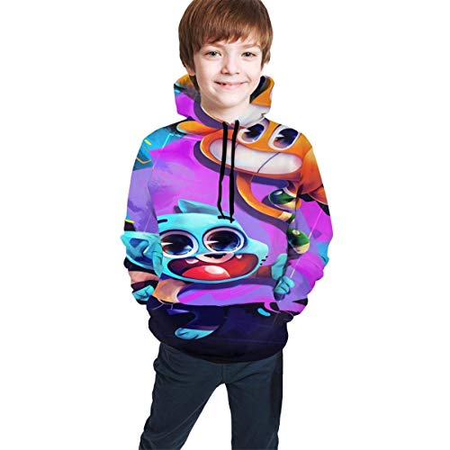 Hidend Kinder Kapuzenpullover Sweatshirt, The Amazing World of Gumball Comfortable Teen Hooded Sweater Black