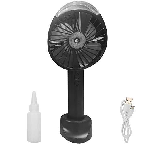 Yosemite Ventilador personal Mini portátil portátil de mano de agua niebla spray ventilador USB recargable de bajo ruido para el hogar oficina viajes - negro