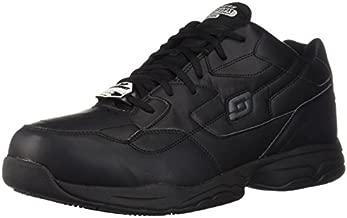 Skechers for Work Men's Felton Shoe, Black, 10.5 XW US