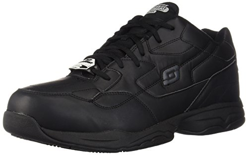 Skechers for Work Men's Felton Shoe, Black, 12 XW US