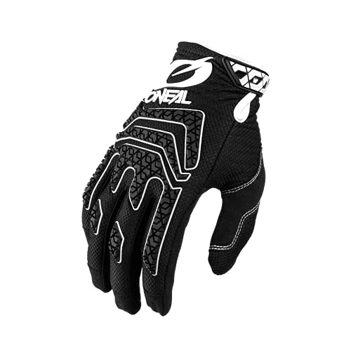 O'NEAL | Fahrrad- & Motocross-Handschuhe | MX MTB DH FR Downhill Freeride | Langlebige, Flexible Materialien, Silikonprint für Grip | Sniper Elite Glove | Erwachsene | Schwarz Weiß | Größe L