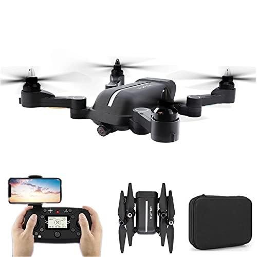 XIAOKEKE Drone GPS Pieghevole con Fotocamera per Adulti, Drone con Videocamera Live 4K HD per Principianti, Quadricottero con Motore Brushless 2 Batterie