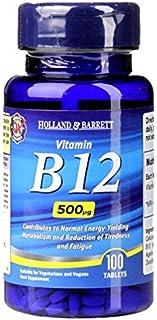 Holland & Barrett Vitamin B12 Tablets 500µg, 100 count