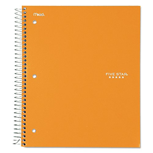 """Five Star Spiral Notebook, 3 Subject, College Ruled Paper, 150 Sheets, 11"""" x 8-1/2"""", Color Selected For You (06050)"""