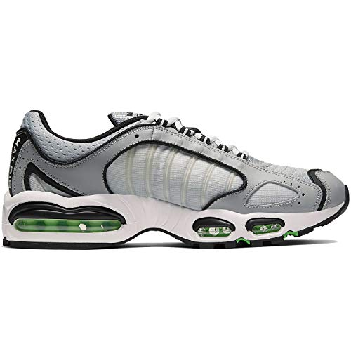 Nike Air MAX Tailwind IV, Running Shoe Mens, Gris Lobo/Blanco/Negro/Verde Chispa