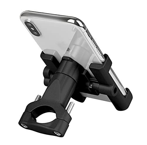 Mobilhållare cykel, aluminium motorcykel mobiltelefonhållare med 360° vridbar anti-krok motorcykel smartphone hållare scooter universal för 4,0–6,8 tum smartphone GPS andra enheter (svart)
