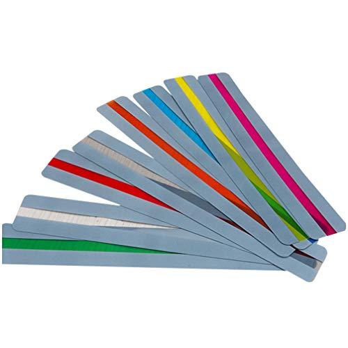 STOBOK 16Pcs Tiras de Guia de Leitura Colorido Sobreposição Destacar Tiras Leitura Leitura Marcador Marcadores para Crianças de Formação de Professores Presente Abastecimento