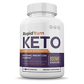 Rapid Burn Keto - PTIBlend - Advanced Weightt Loss Supplement - Enhanced with BHB Ketones - Maximum Strength - 60 Capsules - 1 Month Supply