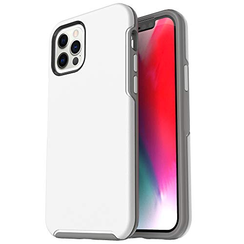 Krichit Ongoing Series Compatible with iPhone 12 Pro Max case (2020), Anti-Drop and Shock-Absorbing case Compatible with 6.7-inch iPhone 12 Pro Max Cases (White)