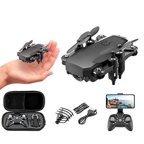 XIAOKEKE Drone WiFi FPV 4K HD Camera, Best Drone for Beginners with Altitude Hold, Foldable Body, Trajectory Flight, 3D Flips, Headless Mode, One Key Operation, Mobile WiFi Control,Black