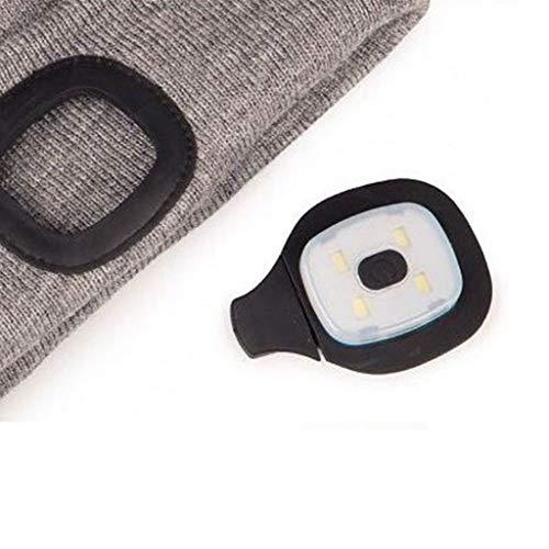 Preisvergleich Produktbild lyqdxd 4 LED Beanie Mütze Licht Lampe USB wiederaufladbar Sport Outdoor Winter Kappe Ersatzteile Ersatz