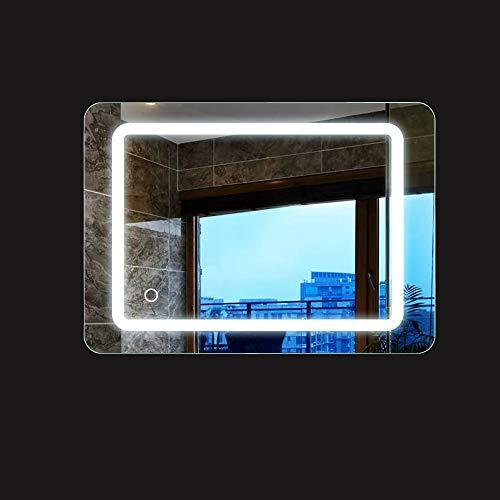 Turefans 9W, badspiegel mit Beleuchtung, badezimmerspiegel, Kühles weißes Licht, Touch-Schalter, Vertikale/horizontale Aufhängung