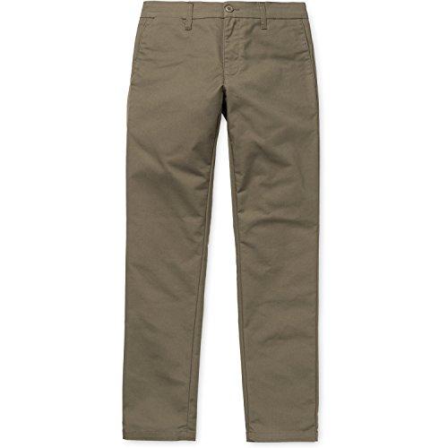 Carhartt Lamar Sid - Pantalón chino para hombre con enjuague tundra Gris Tundra Enjuagado 32W/30L