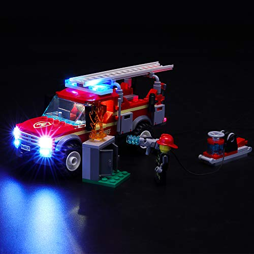 BRIKSMAX Led Lighting Kit for City Fire Chief Response Truck - Compatible with Lego 60231 Building Blocks Model- Not Include The Lego Set