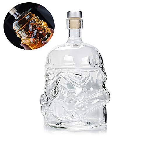 Decantador de jarra de botella de whisky creativo transparente, vaso de agua...
