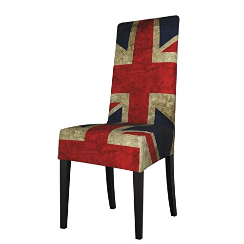 LQLDHJ Union Jack UK Flag Dining Chair Covers, Stretch Removable Washable Dining Chair Protector Slipcovers for Home, Kitchen, Party, Restaurant