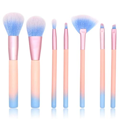 Pinceaux de maquillage femmes 7 pièces pinceau de maquillage Premium Fondation Kabuki Synthétique Blending Blush Correcteur Eye Visage Liquide Poudre Crème Doux