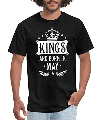 alice hawkins Kings Are Born in May Birthday Men's T-Shirt
