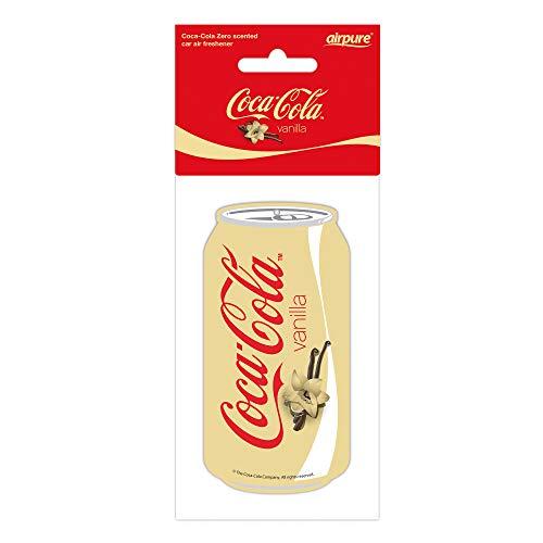 Airpure COCA-COLA - Deodorante per auto alla vaniglia, rinfrescante per interni del veicolo, per uomini e donne, profumo fresco