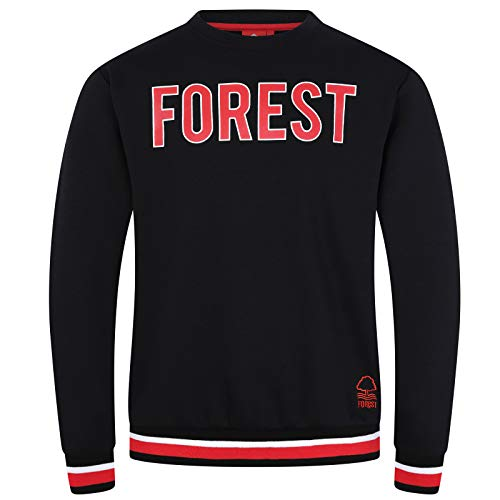Nottingham Forest FC - Herren Sweatshirt mit Vereinswappen - Offizielles Merchandise - Geschenk für Fußballfans - L