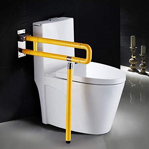 Bejaarde handicap Zwanger roestvrij staal met gezondheidszorg Drop-down steunrail, opvouwbaar toilet Handgreep leuning, veiligheidssteun Leuning Antislip voor gehandicapten