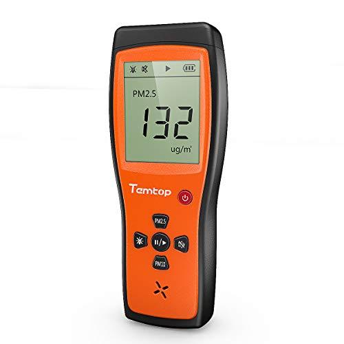 Temtop P200 - Detector láser de aire con sensor AQI para interiores y exteriores, para PM2,5/PM10, 【No para CO2】 ✩Garantía de tres años✩