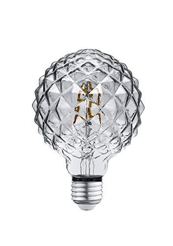 Trio Leuchten LED Glas Filament Leuchtmittel, Glas rauchfarbig, E27 Fassung, 4 Watt, 3000 Kelvin, 140 Lumen, 904-454