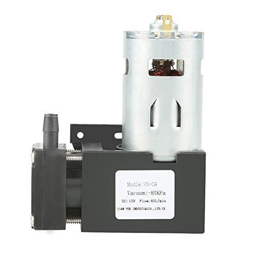 Zerone Vakuumpumpe – 12 V, DC 12 V, 42 W, klein, ölfrei, Vakuumpumpe – 85 kPa Durchfluss 40 l/min