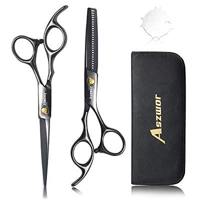 Hair Cutting Scissors Set- 4Pcs Home Salon Barb...