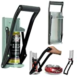 LETTUCE EAT  Heavy Duty 2 in 1 Can Crusher with Bottle Opener- Large Beer Tin Can Crusher Wall Mounted Bottle Opener