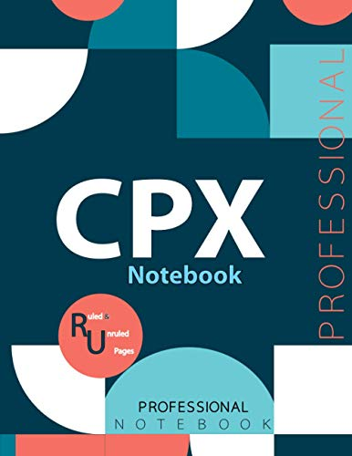 "CPX Notebook, Examination Preparation Notebook, Study writing notebook, Office writing notebook, 140 pages, 8.5"" x 11"", Glossy cover"
