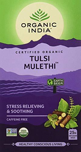 Organic India Green Tea|Organic India Tulsi Mulethi, 25 Tea Bags