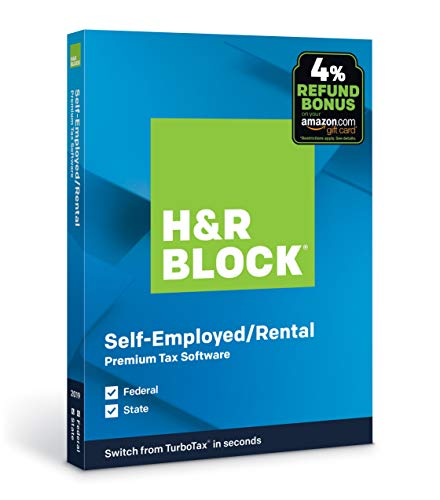 H&R Block Tax Software Premium 2019 with 4% Refund Bonus Offer [Amazon Exclusive] [PC/Mac Disc]