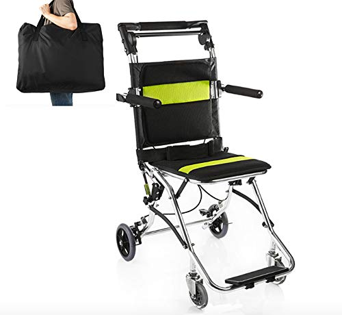 YUWELL Folding Portable Wheelchairs Light Aluminium Travelling Transport Wheelchair for Adults or Child