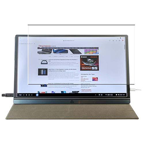 Vaxson Protector de Pantalla de Cristal Templado, compatible con M MEMTEQ Type-C Portable Monitor Z1 15.6' [solo área activa] 9H Película Protectora