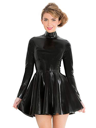 Honour Women's Dress in Rubber Black Size UK 14 (L)