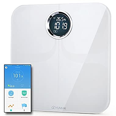 Yunmai Premium Smart Scale - Body Fat Scale with Fitness APP & Body Composition Monitor with Extra Large Display - Works with iPhone 8/iPhone X(10)
