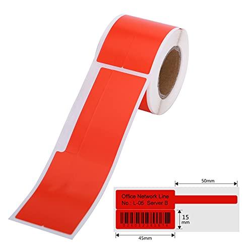 Funien Cinta para rotuladores,Etiqueta de cable autoadhesiva para impresión térmica, papel adhesivo,...