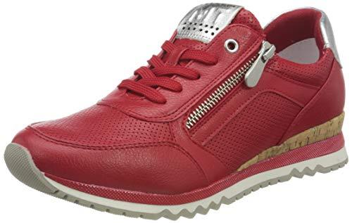 MARCO TOZZI 2-2-23782-26 Sneaker, Zapatillas Mujer, Red Comb, 38 EU