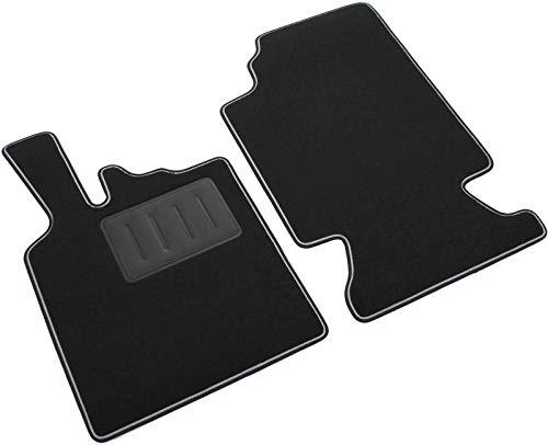 Il Tappeto Auto Sprint04201, Auto-Fußmatten, schwarz, rutschfest, zweifarbiger Rand, verstärkter Absatzschoner aus Gummi