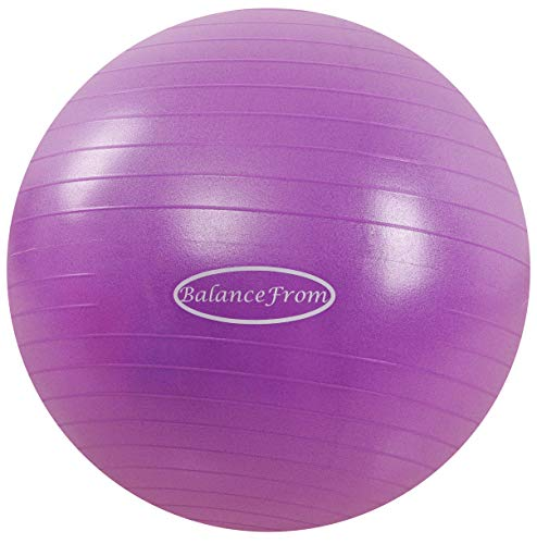 Our #5 Pick is the BalanceFrom Anti-Burst and Slip Resistant Exercise Ball