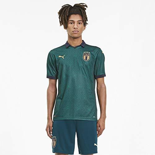 PUMA Herren FIGC Third Shirt Replica Trikot, Ponderosa Pine-Peacoat, L