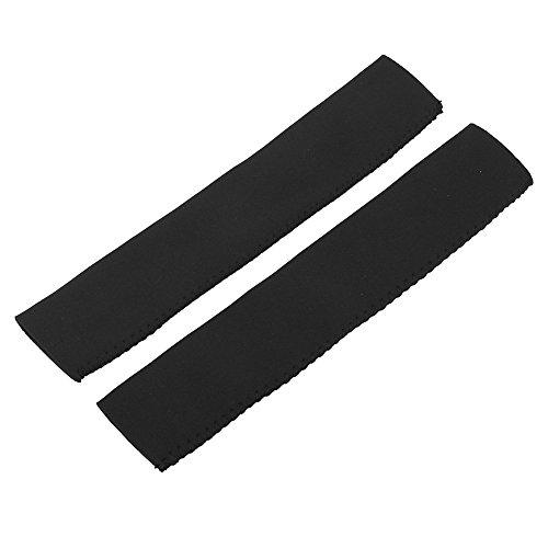 Alomejor 1 Paar Paddelgriffe aus Neopren, rutschfest, für Kajak, Kanu, Paddel-Zubehör (schwarz)