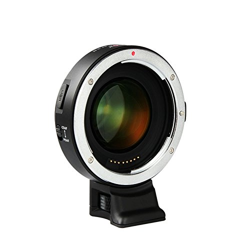 VILTROX EF-E II Speed Booster 0,71x Adattatore Obiettivo Fuoco Automatica per Canon EF obiettivo a Sony A7 A9 A7R A7S A6300 A6500, Supporto CDAF PDAF