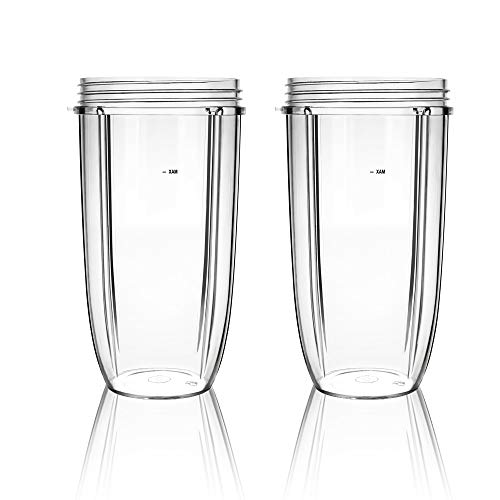 QueenTrade 2PCS 32OZ Replacement Cup For Nutribullet Replacement Parts 600W & Pro 900W Blender/Mixer (NOT FIT Magic Bullet or Nutri Ninja)